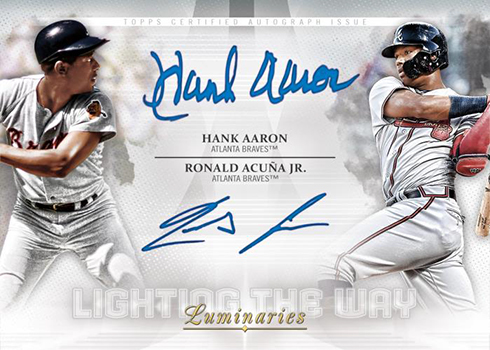2019 Topps Luminaries Baseball Lighting the Way Dual Autographs