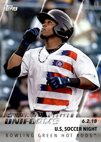 2019 Topps Pro Debut Baseball Promo Night Uniforms