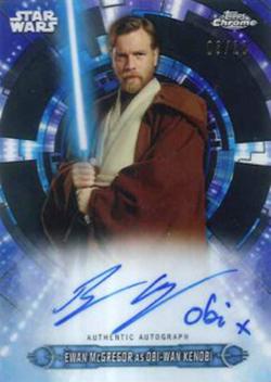 2019 Topps Star Wars Chrome Legacy Ewan McGregor Autograph