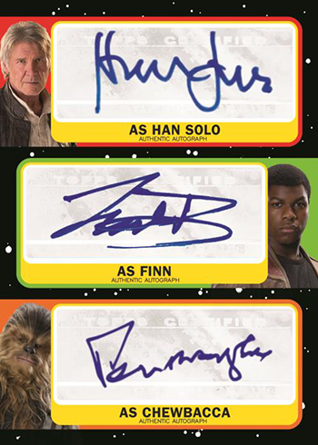 2019 Topps Star Wars Journey to The Rise of Skywalker Triple Autograph