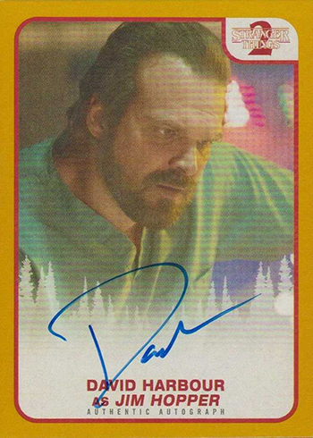 2019 Topps Stranger Things 2 David Harbour Gold Autograph