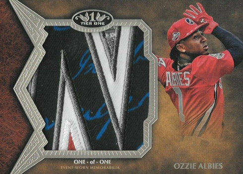 2019 Topps Tier One Baseball All-Star Patches Ozzie Albies