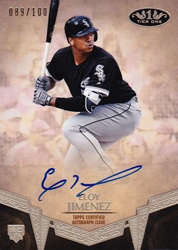 2019 Topps Tier One Baseball Break Out Autographs Eloy Jimenez
