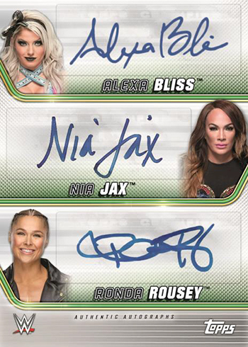 2019 Topps WWE Money in the Bank Triple Autograph