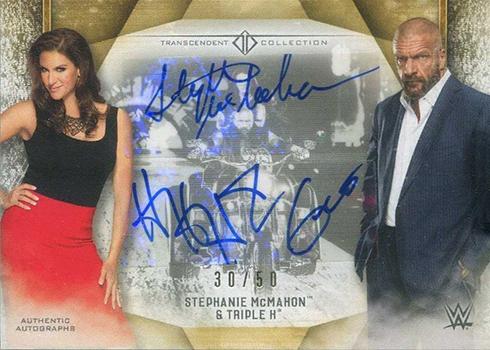 2019 Topps WWE Transcendent VIP Party Dual Autographs Stephanie McMahon Triple H