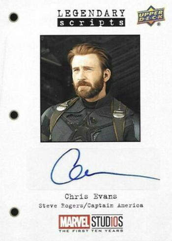 2019 Upper Deck Marvel Studios First Ten Years Legendary Scripts Chris Evans