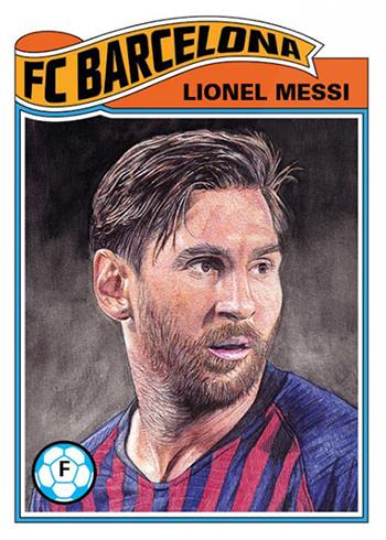 Topps UEFA Champions League Living Set 1 Lionel Messi