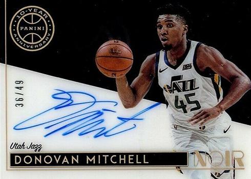 2018-19 Panini Noir Basketball 10th Anniversary Autographs Donovan Mitchell