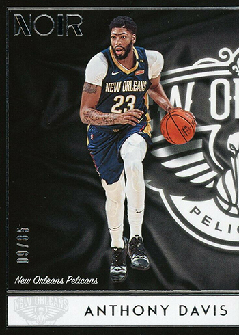 2018-19 Panini Noir Basketball 140 Anthony Davis Icon