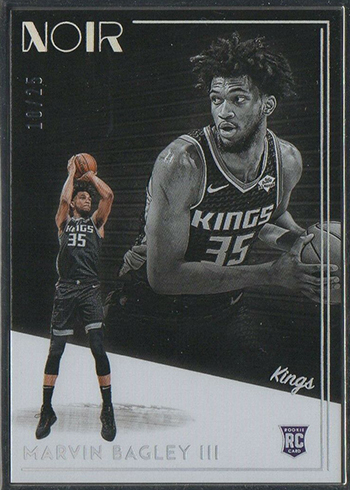 2018-19 Panini Noir Basketball 238 Marvin Bagley III Statement Metal Frame