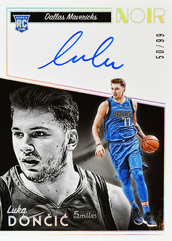 2018-19 Panini Noir Basketball 392 Luka Doncic Rookie Autographs