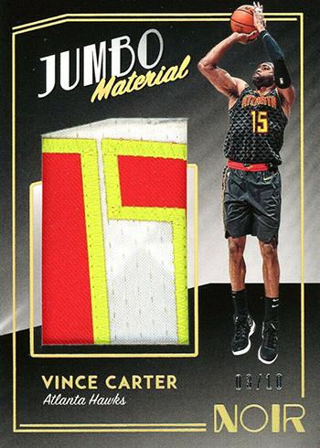 2018-19 Panini Noir Basketball Jumbo Material Prime Vince Carter