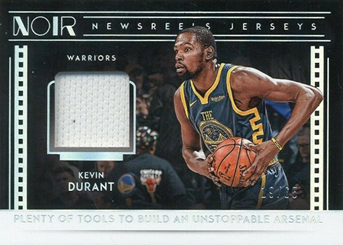 2018-19 Panini Noir Basketball Newsreels Jerseys Kevin Durant