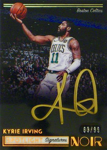 2018-19 Panini Noir Basketball Spotlight Signatures Vertical Kyrie Irving