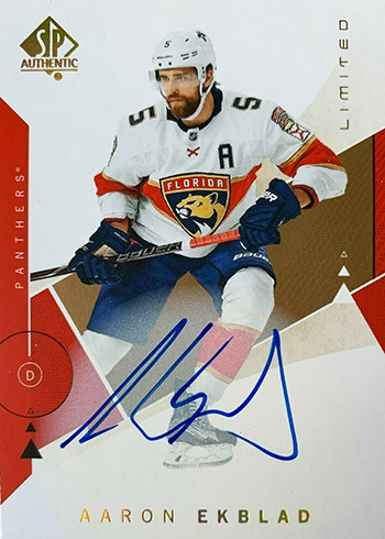 2018-19 SP Authentic Hockey Limited Autographs Aaron Ekblad