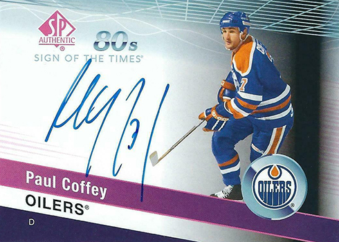 2018-19 SP Authentic Hockey Sign of the Times 80s Paul Coffey
