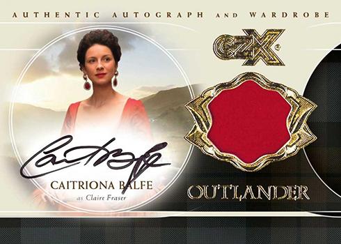 2019 Cryptozoic Outlander CZX Autograph Wardrobe Caitriona Balfe