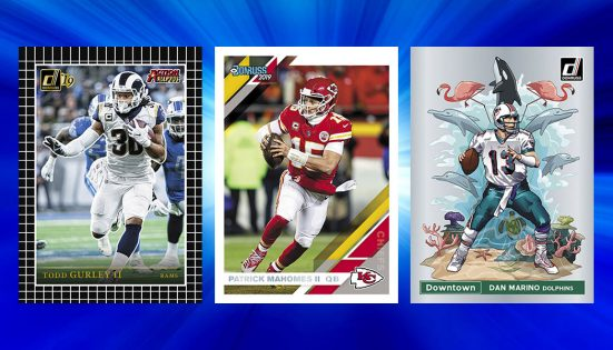John Elway Denver Broncos 2019 Donruss Factory 10 Card Team Set with Von Miller Rated Rookies of Drew Lock and Noah Fant Plus 6 Other Cards