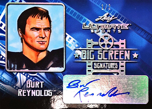 2019 Leaf Ultimate Sports Big Screen Signatures Burt Reynolds