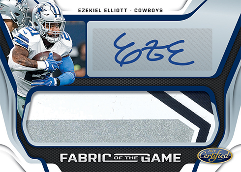 2019 Panini Certified Football Fabric of the Game Autographs