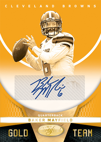 2019 Panini Certified Football Gold Team Autographs