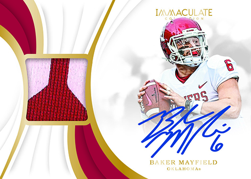 2019 Panini Immaculate Collection Collegiate Football Immaculate Signature Patches