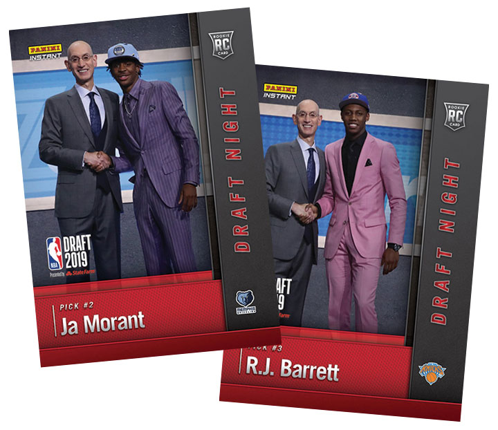 2019 Panini Instant Draft Night Delivers First Official Zion
