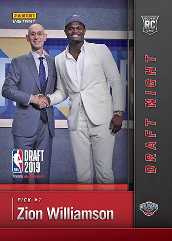 2019 Panini Instant Draft Night Zion Williamson