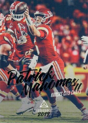 2019 Panini Luminance Football Patrick Mahomes