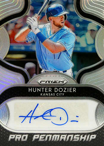 2019 Panini Prizm Baseball Pro Penmanship Hunter Dozier