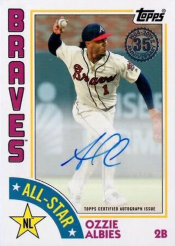 2019 Topps Series 2 Baseball 1984 Topps Autographs All-Star Ozzie Albies