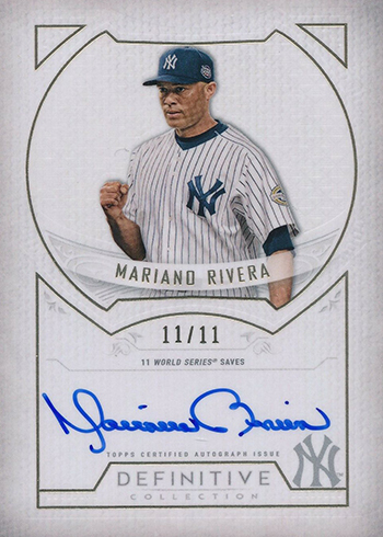 2019 Topps Definitive Collection Baseball Defining Moments Autographs Mariano Rivera