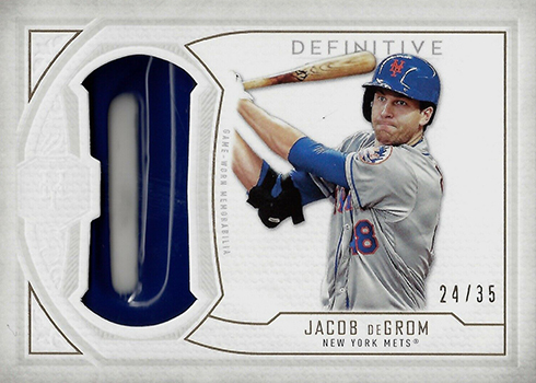 2019 Topps Definitive Collection Baseball Definitive Helmet Collection Jacob deGrom