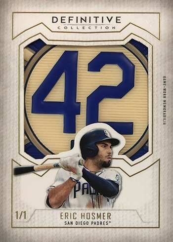 2019 Topps Definitive Collection Baseball Definitive Patch Collection Eric Hosmer