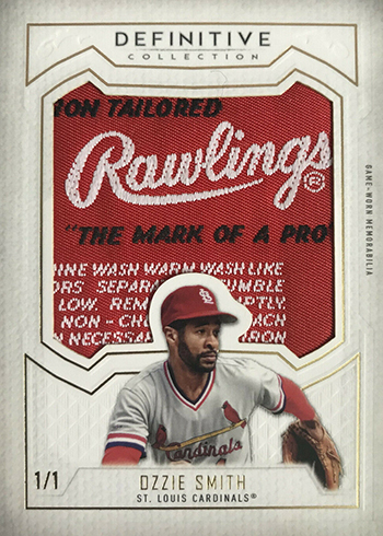 2019 Topps Definitive Collection Baseball Definitive Patch Collection Ozzie Smith
