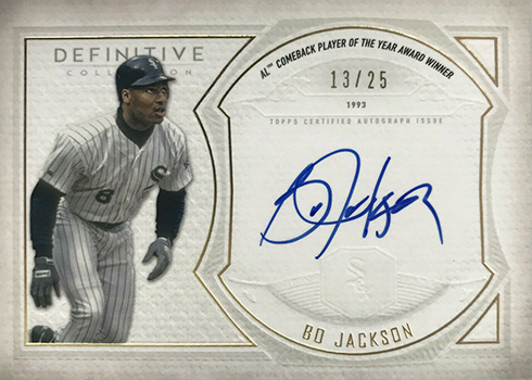 2019 Topps Definitive Collection Baseball Legendary Autograph Bo Jackson
