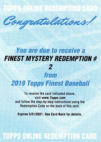 2019 Topps Finest Baseball Cards Checklist, Team Set Lists