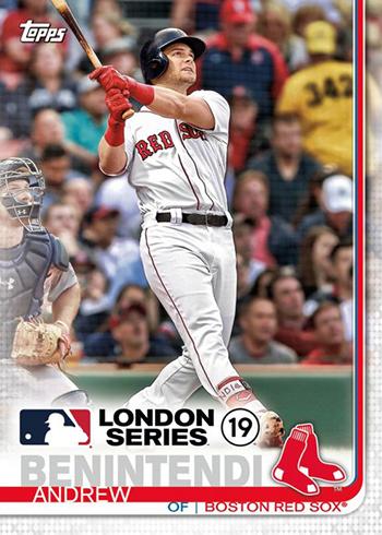 2019 Topps London Series Baseball Andrew Benintendi