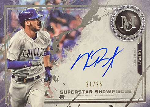 2019 Topps Museum Collection Baesball Superstar Showpieces Kris Bryant