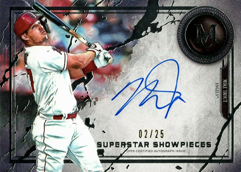 2019 Topps Museum Collection Baesball Superstar Showpieces Mike Trout