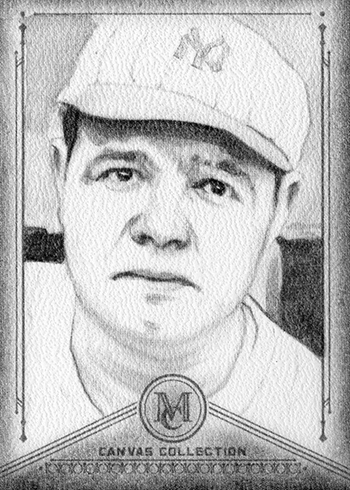 2019 Topps Museum Collection Baseball Canvas Collection Reprints Babe Ruth