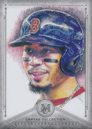 2019 Topps Museum Collection Baseball Canvas Collection Reprints Mookie Betts
