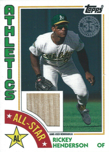 2019 Topps Series 2 Baseball 1984 Relics All-Star Rickey Henderson