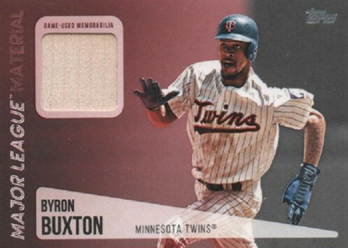2019 Topps Series 2 Baseball Major League material Byron Buxton