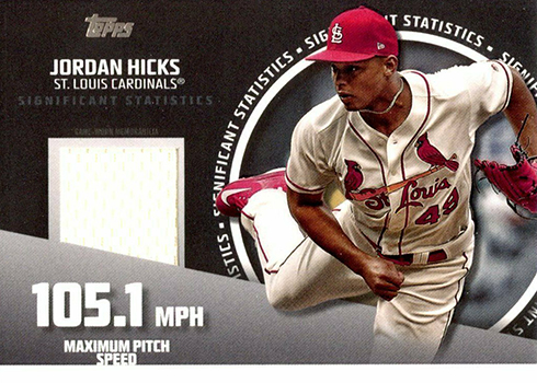 2019 Topps Series 2 Baseball Significant Statistics Relic Jordan Hicks