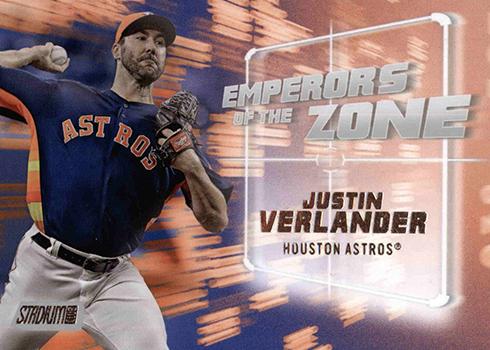 2019 Topps Stadium Club Baseball Emperors of the Zone Justin Verlander