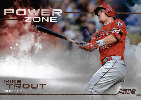 2019 Topps Stadium Club Baseball Power Zone Mike Trout