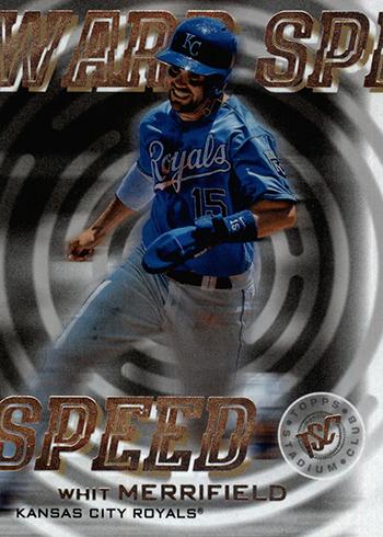 2019 Topps Stadium Club Baseball Warp Speed Whit Merrifield