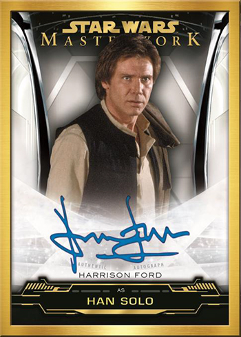 2019 Topps Star Wars Masterwork Harrison Ford Autograph Gold Frame