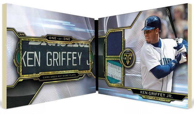 2019 Topps Triple Threads Baseball Bat Nameplate Book Card
